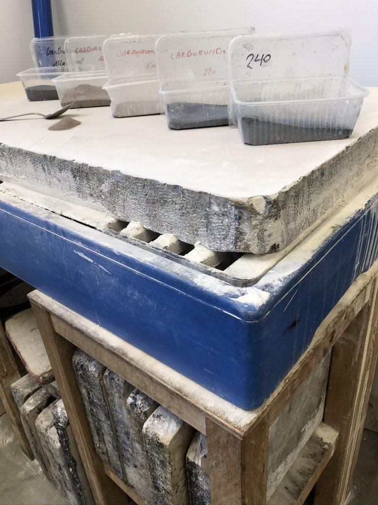 siliciumcarbide, steen en schuurtafel