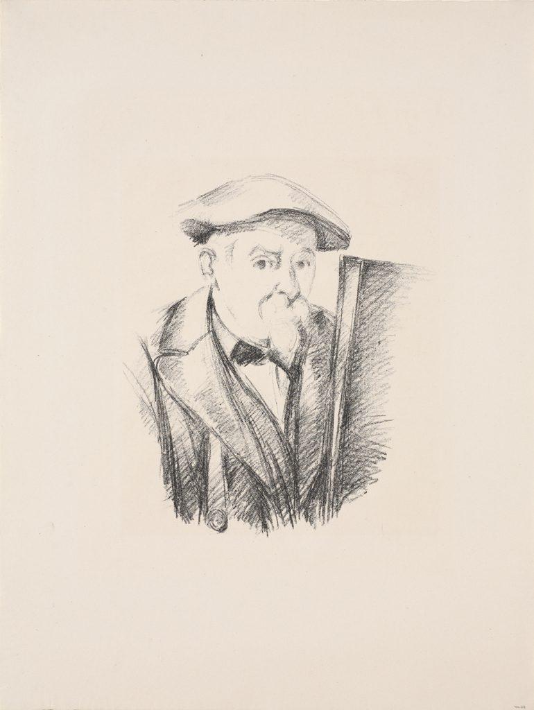 Paul Cézanne zelfportret 1898 transfer litho op papier
