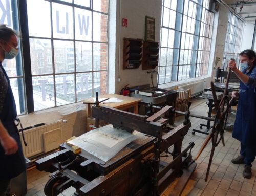 Steendruk in het Gentse Industriemuseum