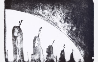 'Duisternis', litho van Ybe De Graef, 2021